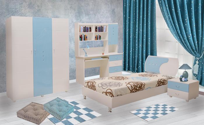 Chambres enfants chambre khalil for Meuble bebe tunis